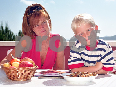 Patsy and Charlie Palmer, breakfast at Peninsular Club, 15th May 1997