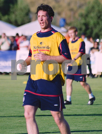 Robbie Fowler training with the England National Squad at La Manga Club, May 2001