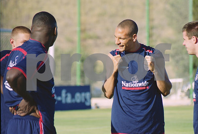 Rio Ferdinand with the England National Football Squad training at La Manga Club, May 2001