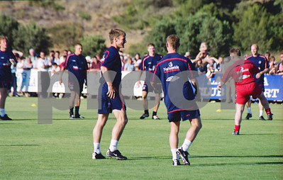 Teddy Sheringham with the England National Football Squad training at La Manga Club, May 2001