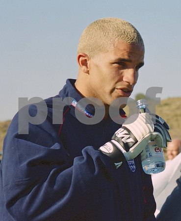 David James with the England National Squad at La Manga Club, May 2001