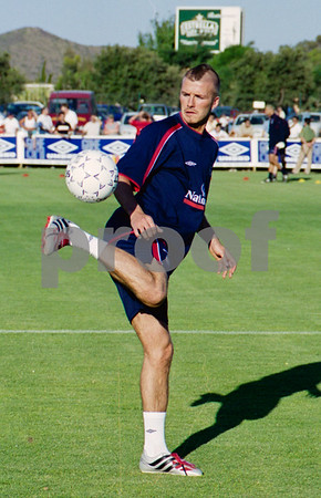 David Beckham training with the England National Squad at La Manga Club, May 2001