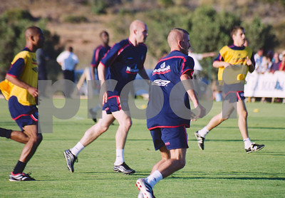 England National Football Squad training at La Manga Club, May 2001