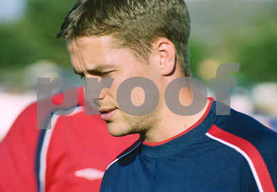 Michael Owen with the England National Football Squad training at La Manga Club, May 2001