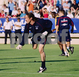 David Seaman with the England National Football Squad training at La Manga Club, May 2001