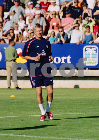 David Beckham England National Football Squad training at La Manga Club, May 2001