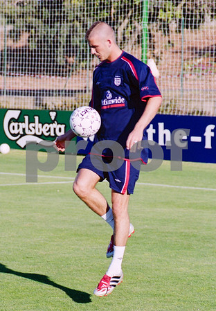 David Beckham with the England National Football Squad training at La Manga Club, May 2001