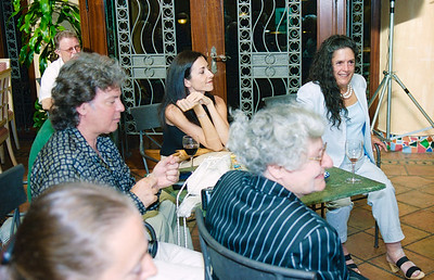 La Manga Club founder Gregory Peters attends a book signing in the Patio Andaluz, 30th May 2003