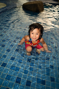 Lovely Alexis enjoying her swim