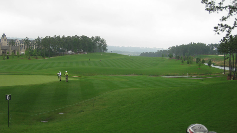 This is where the rain started and didn't let up for 5 holes.