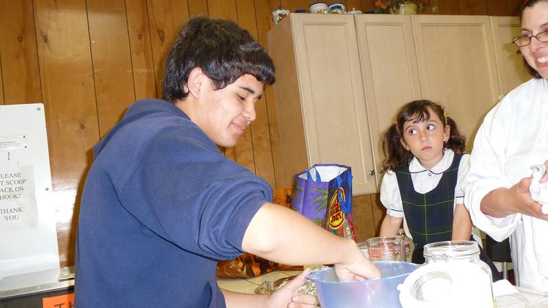 May 2011 Oakridge Making Crêpes in French Class