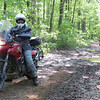 Jessie (JessieRat on ADV).  The adventure ride and the dual sport ride criss crossed every so often.  She was on the adventure ride.