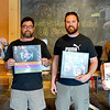 "From left: Event coordinators Aaron ""America"" Wilson, Rob Davies and Jason Turner, along with vinyl enthusiast, Mike Ratcliffe, stand with some of their favoriate albums."