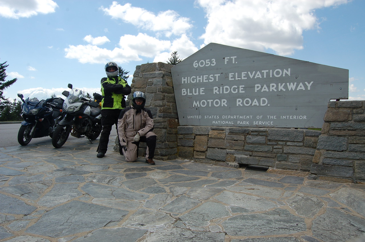 Day 4: Highest point on the BRP, near Cherokee, NC.  (Tom)