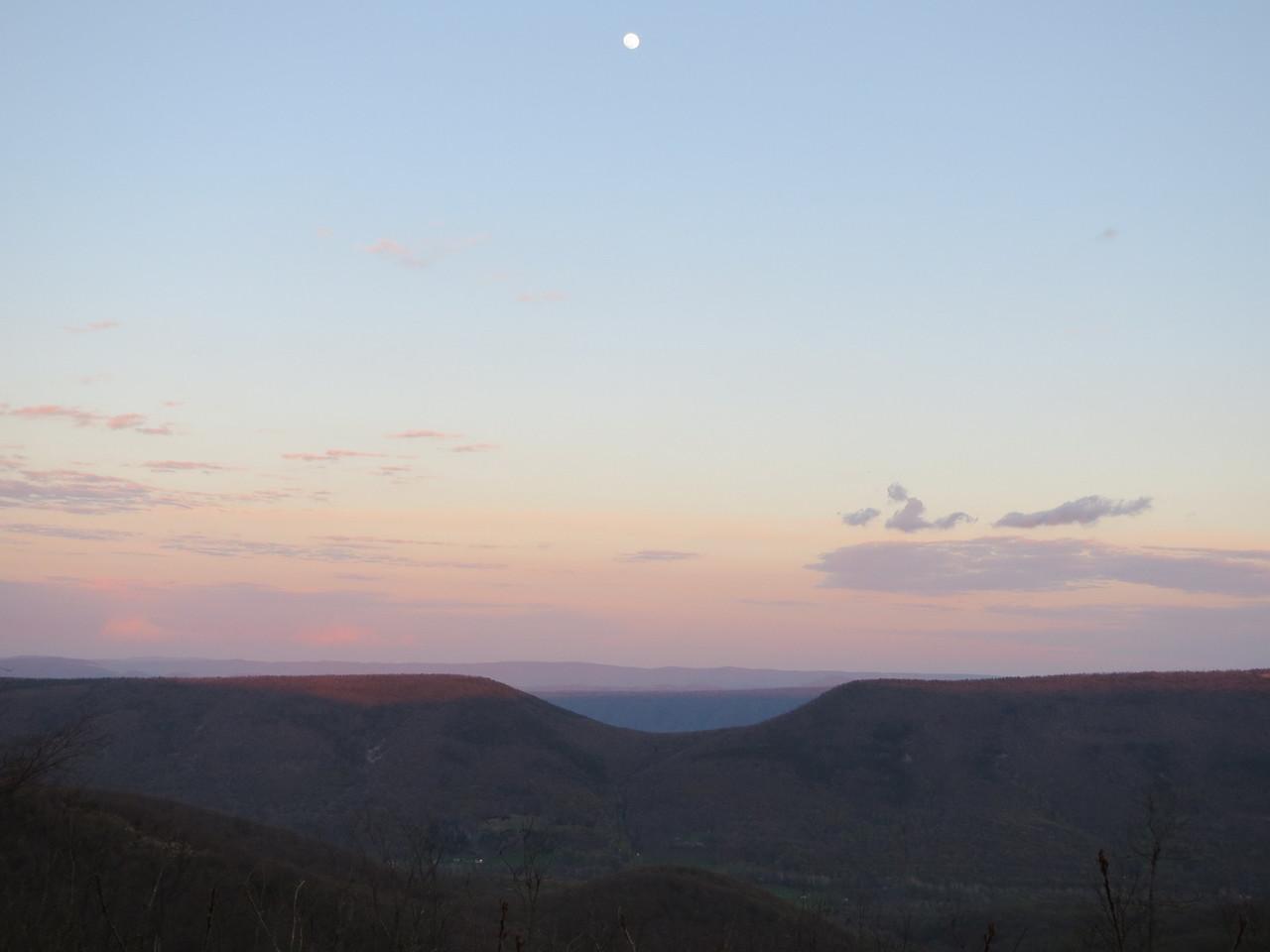 Day 2: Saddle Mountain at dusk, MD. (Mark)