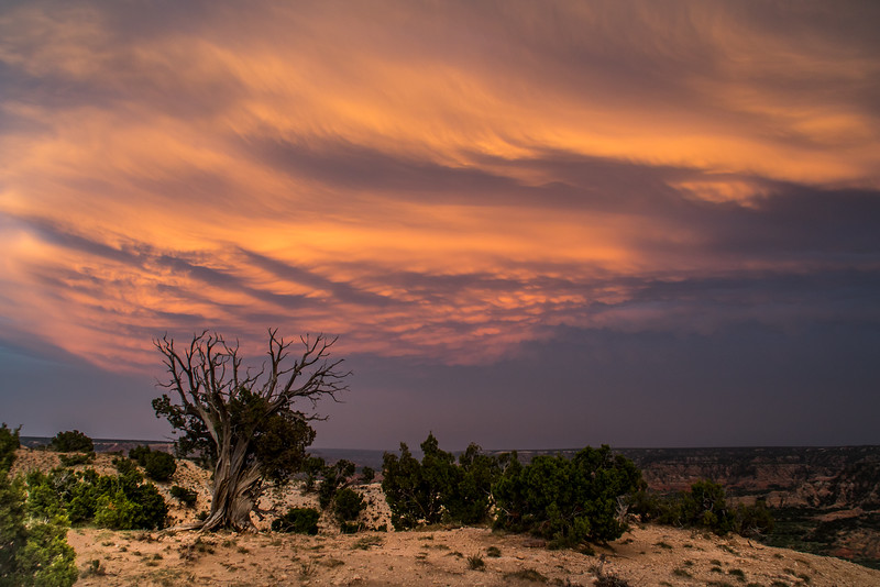 Mammatus Clouds Over Canyon