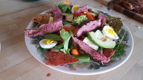 Deb Armstrong: Steak salad with avocado