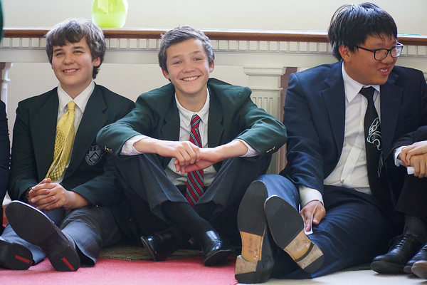 Four-Year Boys Lead Their Last Chapel Service