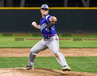 050117  Wesley Bunnell   Staff  Bristol Eastern baseball defeated Bristol Central at Muzzy Field on Monday evening. Bristol Eastern Zach Marquis (9).