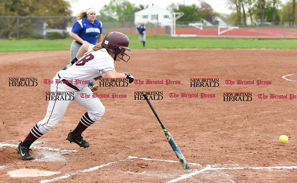 050117 Wesley Bunnell   Staff Bristol Eastern softball defeated Bristol Central on Monday afternoon. Maria Santilli (18)