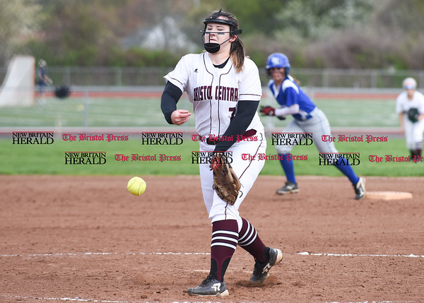 050117 Wesley Bunnell   Staff Bristol Eastern softball defeated Bristol Central on Monday afternoon. Ali Holden (7)