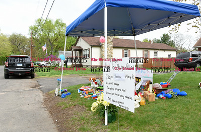 050117  Wesley Bunnell   Staff  A memorial has been set up in front of 79 Sycamore Street where a 21 month old toddler was accidentally struck by his father while moving a vehicle in the driveway.