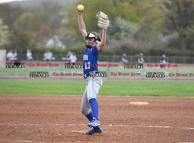 050117  Wesley Bunnell   Staff  Bristol Eastern defeated Bristol Central softball on Monday afternoon. Erin Girard (13).