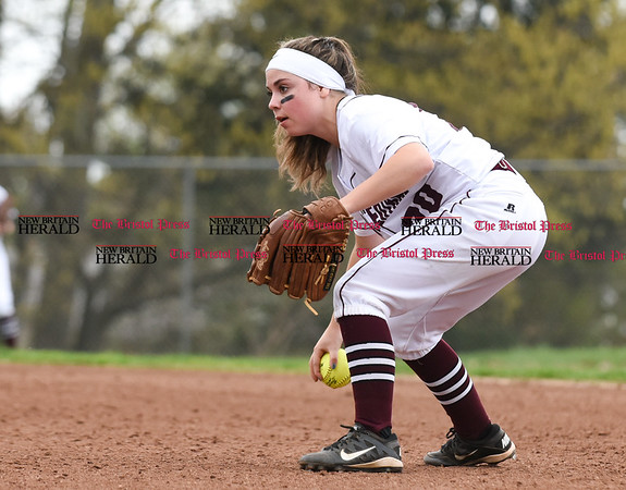 050117 Wesley Bunnell   Staff Bristol Eastern softball defeated Bristol Central on Monday afternoon. Jenna Ptak (20)
