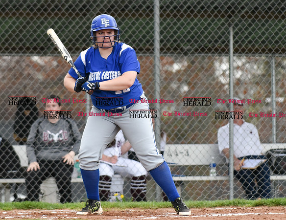 050117 Wesley Bunnell   Staff Bristol Eastern softball defeated Bristol Central on Monday afternoon. Mikayla Martin (18)