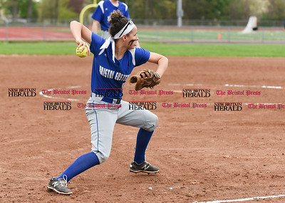 050117  Wesley Bunnell   Staff  Bristol Eastern defeated Bristol Central softball on Monday afternoon. Lauren Aparo (4) fields a bunt and throws to first for the out.
