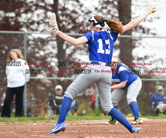050117 Wesley Bunnell   Staff Bristol Eastern softball defeated Bristol Central on Monday afternoon. Erin Girard (13)