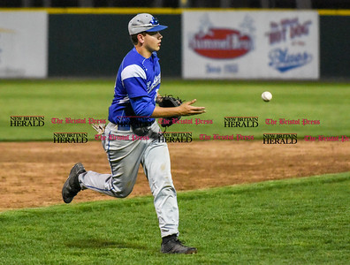 050117  Wesley Bunnell   Staff  Bristol Eastern baseball defeated Bristol Central at Muzzy Field on Monday evening.  Bristol Eastern MacGregor Goulet (10).