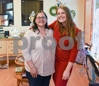 050317  Wesley Bunnell | Staff  The Greater New Britain Arts Alliance held their 20th Annual Meeting on Wednesday evening at the Southington Community Cultural Arts Center. Outgoing President Donna Veach, left, with incoming Presdient Hanna Hurwitz.