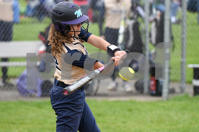 051017  Wesley Bunnell | Staff  Newington High School softball vs E.O. Smith on Wednesday afternoon. Danielle Pantano (22).