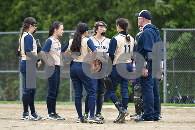 051017  Wesley Bunnell | Staff  Newington High School softball vs E.O. Smith on Wednesday afternoon.
