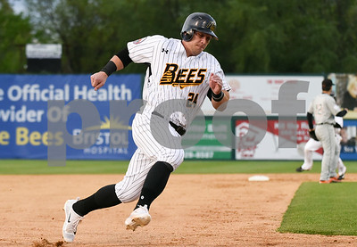 051217  Wesley Bunnell | Staff  The New Britain Bees defeated the Long Island Ducks 6-0 on Friday evening. Craig Maddox (24)