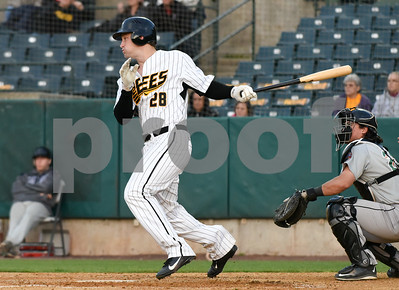 051217  Wesley Bunnell | Staff  The New Britain Bees defeated the Long Island Ducks 6-0 on Friday evening. Conor Bierfeldt (28)