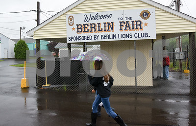 052517  Wesley Bunnell | Staff  The Berlin High School Upbeat Club held their annual picnic at the Berlin Fair Grounds on a soggy Thursday May 25.