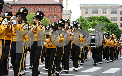 053017  Wesley Bunnell | Staff  The City of New Britain held their annual Memorial Day Parade on Tuesday evening. The New Britain High School marching band on Main St near Central Park.