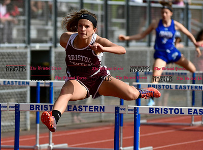 5/16/2017 Mike Orazzi | Staff Bristol Central's Olivia Savino during Tuesday's track meet at Eastern.