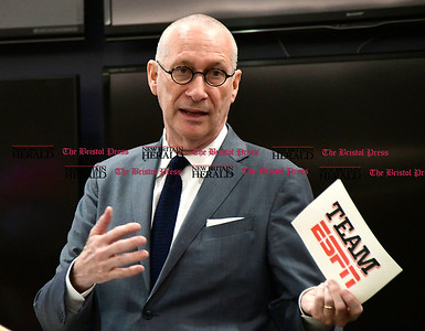 5/19/2017 Mike Orazzi | Staff ESPN President John Skipper during the volunteers of the year ceremony Friday in Bristol.