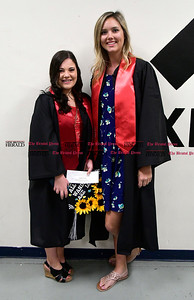 5/20/2017 Mike Orazzi   Staff Brooke Nicholson and Julie Hussey at the XL Center in Hartford for CCSU's graduation Saturday morning.