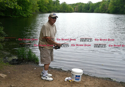 "5/24/2017 Mike Orazzi | Staff Earl ""Pokey"" Bishop while at Birge Pond in Bristol Wednesday."