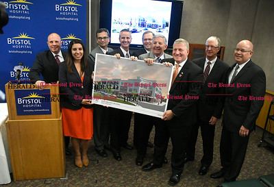 5/25/2017 Mike Orazzi | Staff Bristol Hospital's unveiling of the new Ambulatory Care Center to be built on the corner of Riverside Avenue and Main Street in downtown Bristol.