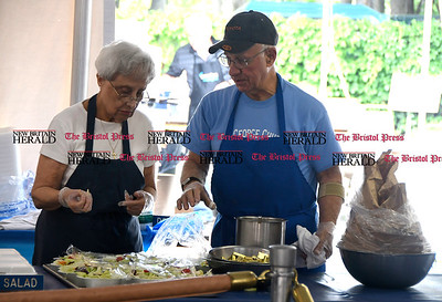 5/27/2017 Mike Orazzi | Staff Straty Coutsouridis and Gregory Ladas during the Saint George Greek Orthodox Church Dionysos Greek Festival Saturday in New Britain.