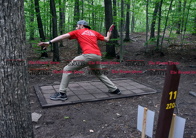 5/27/2017 Mike Orazzi | Staff Ian Schulman while playing a disk golf fundraiser for Kevin Adorno in Page Park Saturday morning.