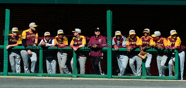5/3/2017 Mike Orazzi | Staff New Britain during Wednesday's baseball game with Bristol Eastern at Muzzy Field.