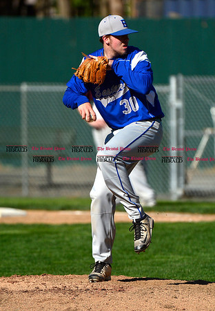 5/3/2017 Mike Orazzi | Staff Bristol Eastern's Jake Violette (30) during Wednesday's baseball game with New Britain at Muzzy Field.