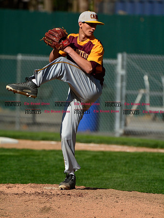 5/3/2017 Mike Orazzi | Staff New Britain's Will Homar (10) during Wednesday's baseball game with Bristol Eastern at Muzzy Field.
