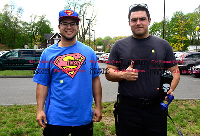 5/6/2017 Mike Orazzi | Staff Michael DuPuis and Michael Paparello during the Southington Public Library's ComicCon Saturday.